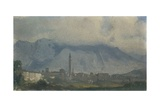 View of Belluno and Mount Serva Covered with Clouds