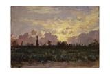 Golden Clouds  (Landscape at Dawn)