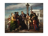 Titian Meets the Young Veronese on Ponte Della Paglia