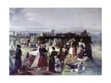 Zouaves Camp in Brescoa During the Italian Wars for Independence)