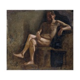 Painting Study for a Male Nude