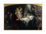 Children Visiting the Dead Little Girl