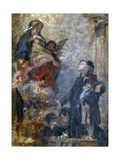 Study for Saint Luis and Virgin Mary