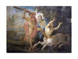Mythological Scene  Hercules Fighting the Centaur Nessus Saving Deianira