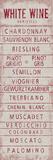 Wine Varieties IV Giclée par The Vintage Collection