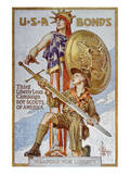 World War I American War Bonds Campaign Poster