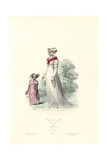 Woman and Child in Town Clothes  Consulate Era  1803