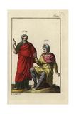 Paris in Phrygian Battledress  and Assyrian King Sardanapalus in Regal Cloak