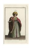 Italian Noblewoman in Courtly Dress  1303