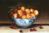 Bowl of Cherries and Peaches