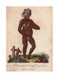Domesticated Orang Utan (Female) Wearing a Striped BandanaPongo Pygmaeus