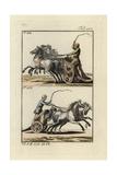 Roman Racing Chariots- Four-Horse Quadriga at Top and Two-Horse Biga Below