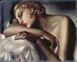 The Sleeping Girl Giclée par Tamara De Lempicka