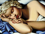 The Sleeping Girl (Kizette) I Papier Photo par Tamara De Lempicka