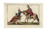 Persian King Darius II (Artaxerxes Ochus) on Horseback Greeting Ambassador Tessalio