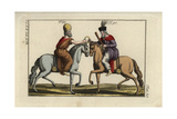 Two Persians on Horseback Clutching a Brass Ring