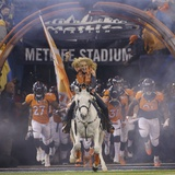 NFL Super Bowl 2014: Feb 2  2014 - Broncos vs Seahawks - Thunder and Denver Broncos Take the Field