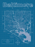 Baltimore Artistic Blueprint Map