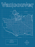 Vancouver Artistic Blueprint Map