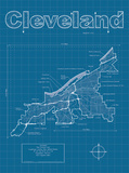 Cleveland Artistic Blueprint Map