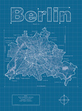 Berlin Artistic Blueprint Map