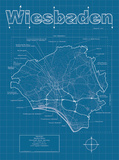Wiesbaden Artistic Blueprint Map