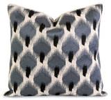 Indie Blue Embroidered Down Pillow
