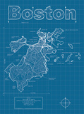 Boston Artistic Blueprint Map