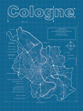Cologne Artistic Blueprint Map