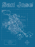 San Jose Artistic Blueprint Map