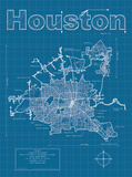 Houston Artistic Blueprint Map