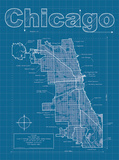 Chicago Artistic Blueprint Map