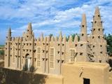 Mosque in Bozo  Mopti  Mali  Africa