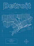 Detroit Artistic Blueprint Map