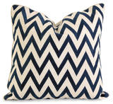 Eden Embroidered Down Pillow - Navy