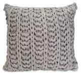 Nantucket Grey Crochet Pillow