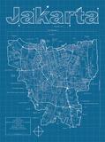 Jakarta Artistic Blueprint Map