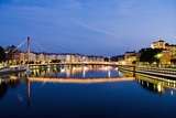 Palais Du Justice Footbridge Reflecting on the Saone