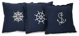 Nautical Navy Pillow Set