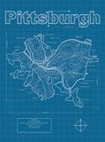 Pittsburgh Artistic Blueprint Map