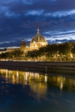View of the Rhone and Hotel Dieu from Pont Wilson