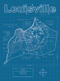 Louisville Artistic Blueprint Map