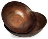 Toluca Copper-Plated Bowl Pair