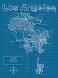 Los Angeles Artistic Blueprint Map
