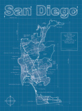 San Diego Artistic Blueprint Map