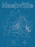 Nashville Artistic Blueprint Map