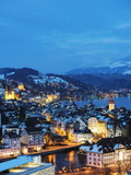 Lucerne on Lake Lucerne  Lucerne  Switzerland  Europe