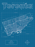 Toronto Artistic Blueprint Map