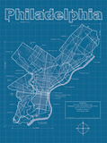 Philadelphia Artistic Blueprint Map