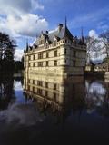 Azay Le Rideau Castle  Loire Valley  Indre Et Loire  France